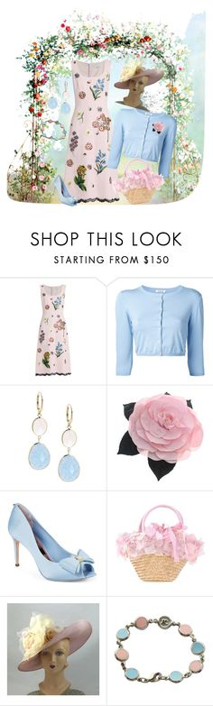 """""""Garden Party"""" by mb-magic-styles ❤ liked on Polyvore featuring Andrew Gn, P.A.R.O.S.H., Saks Fifth Avenue, Chanel, Ted Baker and Courrèges"""