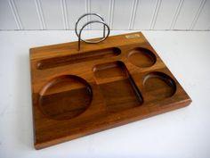 Vintage Valet / Wood / Tray/ Mad Men/ Jewlery by mamiezvintage, $24.00