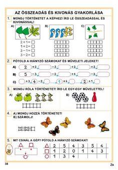 Albumarchívum Math Courses, Preschool Math, Adult Coloring Pages, Online Courses, Diagram, Study, Album, Education, Google