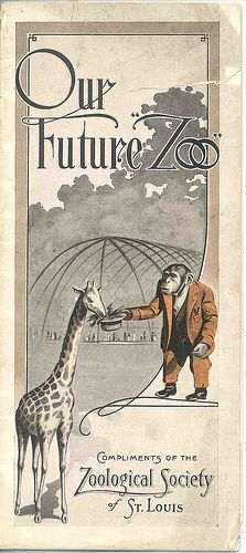 Our Future Zoo brochure    The Zoological Society turned to the city's school children for help in passing a zoo tax in November of 1916. The children had collected $ 2,384 in a penny drive to purchase the beloved elephant Miss Jim. Saint Louis Zoo archives.