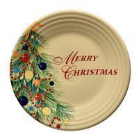 Merry Christmas Luncheon Plate from Fiesta Dinnerware
