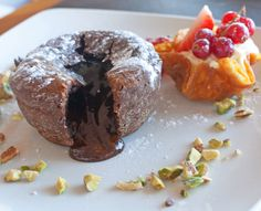 Choclate Fondant Dessert at Sands Resort Hotel Cornwall