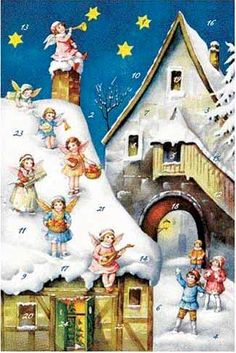 Christmas advent card made in Germany