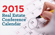 See the real estate conference calendar for 2015, featuring major and influential conferences in the industry. http://plcstr.com/1y9IE17 #realestate #conferences