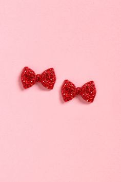 Cute Red Earrings - Bow Earrings - Ruby Earrings - $11.00