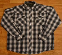 Gotcha Men's Western Rockabilly Shirt Size Large with Snap Buttons