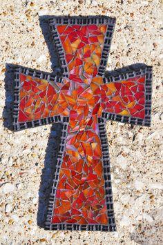 Cool mosaic cross on Etsy