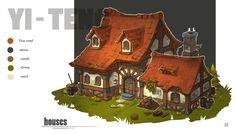 ArtStation - houses, yiteng luo
