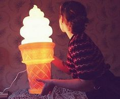 b62594f58f7 Giant Ice Cream Cone Lamp Kawaii