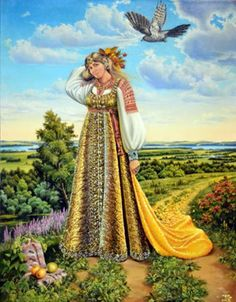"First day of May, spring begins midnight Slavic holiday - Zhivin day. Alive (short form of the name Zhivena or Ziewonia, which means ""life-giving"") - the goddess of life, spring, fertility, birth, rye, corn. Frets daughter, wife Dazhbog. Goddess of spring and life in all its manifestations. She - the giver of Life Force Rod, which makes all life itself alive."