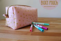 National Sewing & Quilting Month - A Boxy Pouch