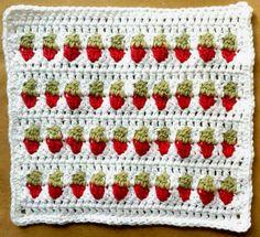 """Hoy os traemos una puntada de ganchillo especial: """"Strawberry Stitch"""" (Fresa puntada). Tiene este nombre porque se parece a las fresas. Es simplemente maravilloso! Aquí se puede encontrar un tutor"""