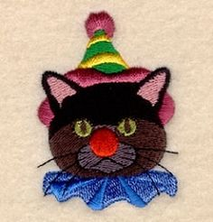 Clown Cat - 4x4   What's New   Machine Embroidery Designs   SWAKembroidery.com Starbird Stock Designs