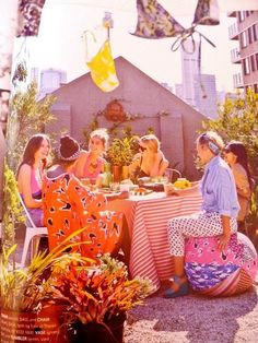 friends, colors, rooftop decks