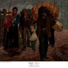 Arts: Os emigrantes. Antonio Rocco, C. 1910. Óleo sobre tela, 202 X 231 cm. Acervo da Pinacoteca do Estado de São Paulo. #Pinacoteca110anos (via Pinacoteca do Estado de São Paulo - Facebook)
