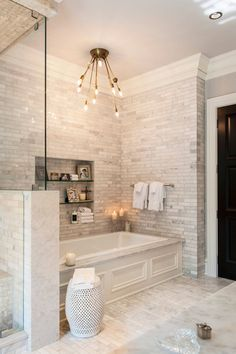 The perfect spa retreat getaway! Those marble subway tiles add some class to this astonishing bathroom. #love #homedesign #homedecor #interiordesign #interiordecor #bathroom #bathroomgoals