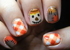 Fall Nail Art Designs You'll Fall In Love With Love this one! 16 Fall Nail Art Designs You'll Fall In Love WithLove this one! 16 Fall Nail Art Designs You'll Fall In Love With Holiday Nail Art, Halloween Nail Art, Thanksgiving Nail Art, Fall Nail Art Designs, Nail Art Ideas, Seasonal Nails, Fingernail Designs, Autumn Nails, Fall Nail Art Autumn