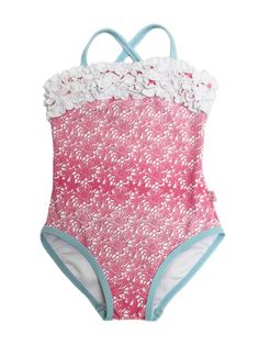 Floatimini Lace Printed Swimsuit with Ruffles