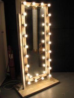 Makeup Mirror with Lights, Floor Standing