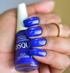 MICHELINE RAMALHO: Esmalte Risqué Azul Hortênsia