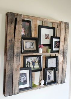 Wood Pallet Shelves