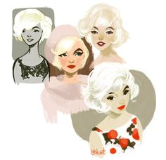 Creative Loish, Illustration, Http, Net, and Files image ideas & inspiration on Designspiration Character Illustration, Illustration Art, Loish, Drawn Art, Marilyn Monroe Art, You Draw, Norma Jeane, Art Inspo, Painting Inspiration