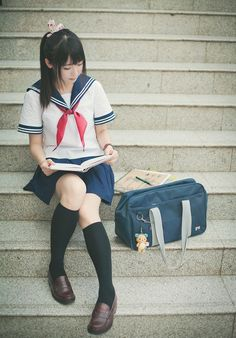 Japanese school bags are sometimes designated by the schools, which is why so many students carry this model