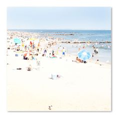Blue Beach by Rose Anne Colavito Photographic Print