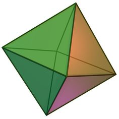 Un octaedro es un poliedro de ocho caras. Platonic Solid, Sacred Geometry, Outdoor Gear, Fantasy Art, Spirituality, Zipper, Heart Chakra, Atlantis, Planes