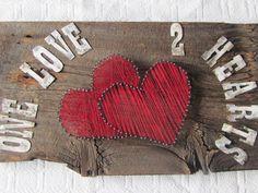 heart string art by RusticWorks on Etsy