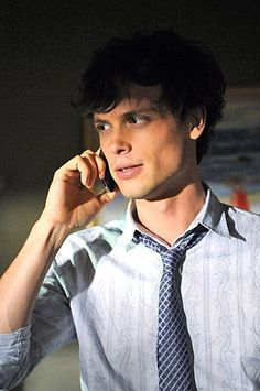 Spencer Reid can call me anytime... hes smart and adorable.