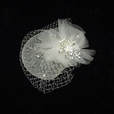 Gorgeous Net With Pearl/Rhinestone Women's Fascinators – USD $ 14.39