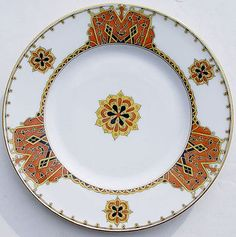 RARE-RUSSIAN-1900s-KORNILOV-BROTHERS-PORCELAIN-PLATE-made-for-WESTERN-MARKET
