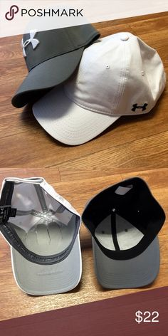 🆕Under Armour caps Set of 2. One is adjustable, the gray hat is a small/medium stretch. New without tags Under Armour Accessories Hats