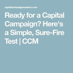 Capital Campaign Communications Plan Sample Outline  Ccm