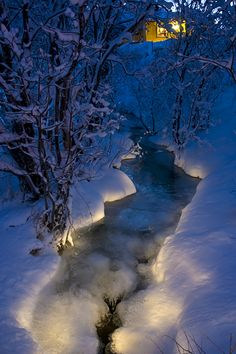 Magical River close to Tromso, Norway