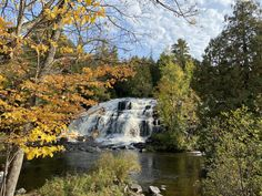 If you like vacation destinations packed with hiking trails and waterfalls , our senior editor found just the right place. Pictured: Bond Falls.