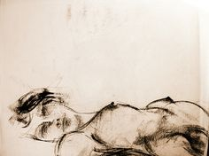 Dessin au fusain © Valérie le Merrer