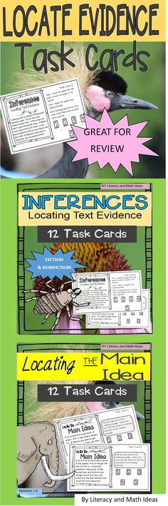 >>> Click Here For The INFERENCE  Version   Click Here For The MAIN IDEA  Version <<<     Do you have students that need practice with su...