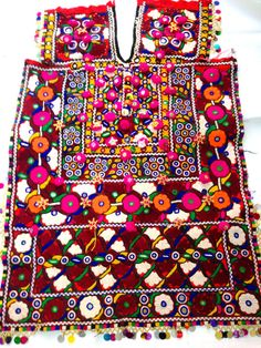 Vintage Banjara Fabric yoke banjara yoke hand embroidery with mirror work tassles beads