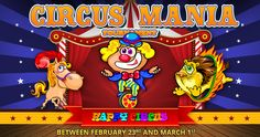 The Happy Circus is in town. Come see the parade of prizes. www.bingohall.com