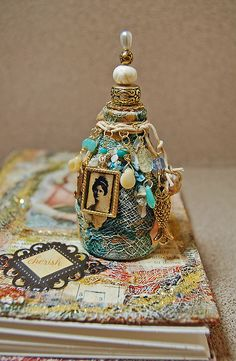 Altered Art Book and little Sidekick Altered Bottle