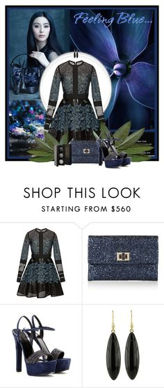"""""""Feeling blue"""" by anna-survillo ❤ liked on Polyvore featuring Elie Saab, Anya Hindmarch, Gucci, Ted Muehling, Laura Mercier, women's clothing, women, female, woman and misses"""