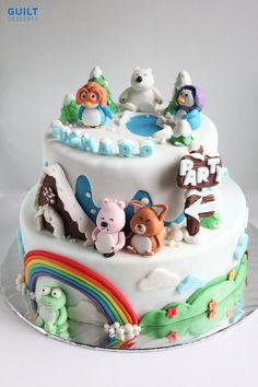 Pororo Birthday Cake  Cake by guiltdesserts