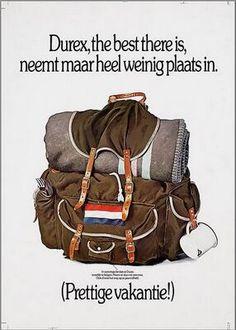 Durex, the best there is, neemt maar heel weinig plaats in  1979