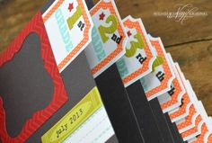 First Day of School Mini Album.  Holds first day photos for K-12.  Such a cute idea.
