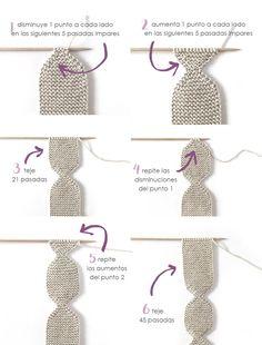 NUR Knitted baby Legging -Pattern & Tutorial – Cómo hacer una Polaina d punto para bebé - Patrón y Tutorial - Baby Knitting Patterns, Knitting Stitches, Easy Crochet, Crochet Baby, Knit Crochet, Knitted Booties, Knitted Bags, Baby Leggings Pattern, Baby Kimono