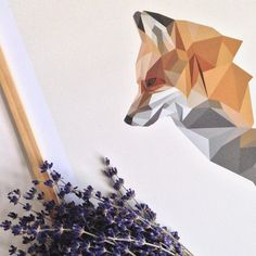 Fox poster. Get it at our shop - link in bio ⬆️ #fox #ræv #illustration #poster #plakat #print #frame #ramme #art #grafiskdesign #graphic #graphicdesign #geometricart #geometric #polyart #nordic #wallart #minimalistic #home #indretning #decor #interior #interiør #white #etsy #etsyshop #nordster