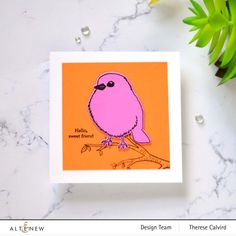 Wood Stamp, Beautiful Handmade Cards, All Birds, Bird Cards, Altenew, Diy Home Decor Projects, Clear Stamps, Blue Bird, Stencils