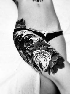 I want my thigh tattooed SOOO bad!! #tattoo #tattoos